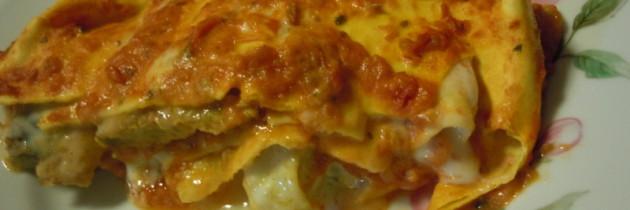 Babcia Maria przygotowala lasagne