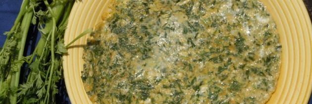 Lisciowo i omletowo czyli frittata di foglie di carote