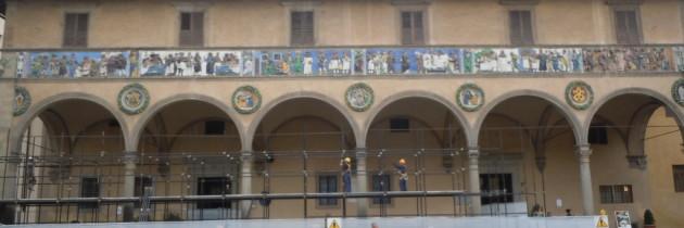 Remont fasady starego szpitala