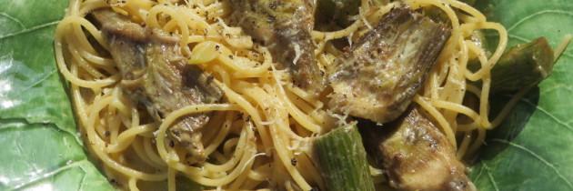 Spaghetti z karczochami według Toskanki