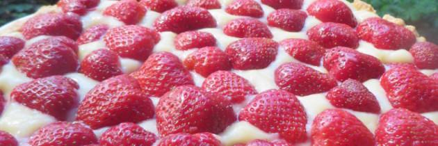 Włoska tarta truskawkowa