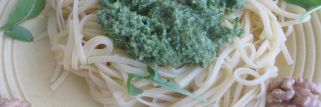 Viva la pasta! cz.31 Linguine z pesto rukolowym