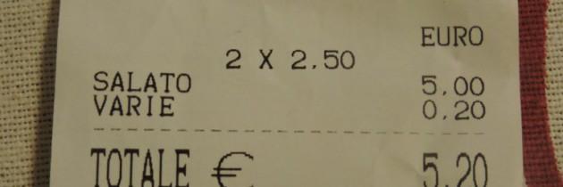 Nieuczciwy zarobek na kliencie – bar w Pizie