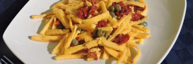 Viva la pasta! cz.42, Tagliolini z suszonymi pomidorami i kaparami