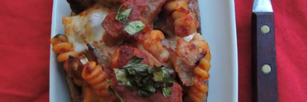 Viva la pasta!, cz.54, Faszerowane bakłażany z makaronem