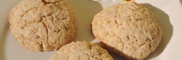 Ciasteczka migdałowo-żytnie