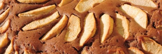 Czekoladowe ciasto z jabłkami