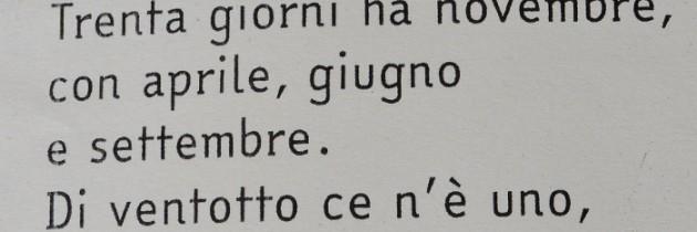 Dni w miesiącu – wierszyk powtarzany przez każdego Włocha