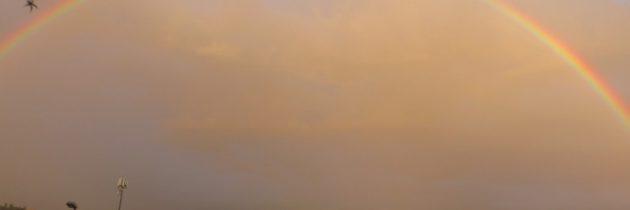 Niedzielna tęcza nad Pistoią
