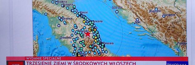 Marche, Umbria, Lacjum, Toskania… trzęsienie ziemi