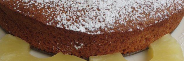 Ciasto ananasowe z mąki kukurydzianej