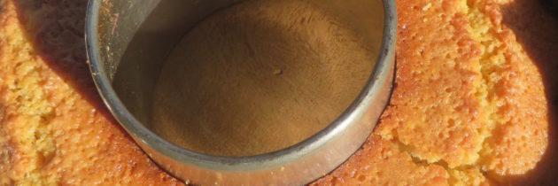 Ciasto cytrynowe z mąki kukurydzianej