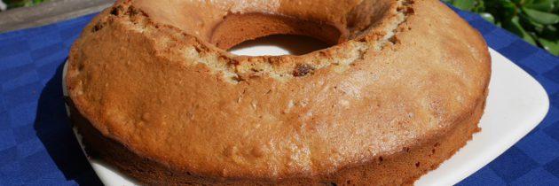 Żytnie ciasto z migdałami i rodzynkami