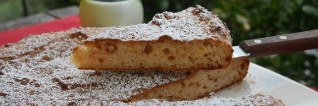 Ciasto migdałowe z ricottą i miodem