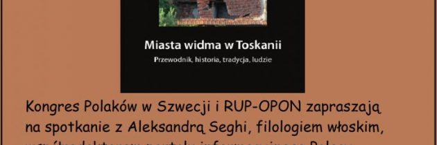Prelekcja w Sztokholmie o opuszczonych miastach w Toskanii