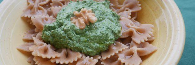 Viva la pasta! cz.80: Wstążki żytnie z wegańskim pesto