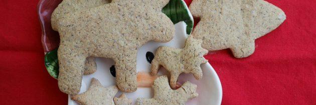 Kruche ciastka bożonarodzeniowe z mąki gryczanej