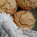 Babeczki bezglutenowe ryżowo – gryczane z migdałami