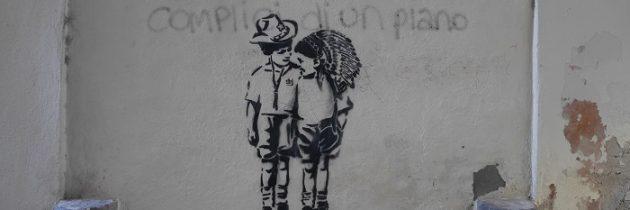 Street artist l_db i zaułek Volta Tonti