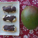 Ciasteczka (niby eklerki) z kremem mango