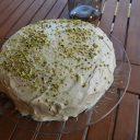 Ciasto z kremem pistacjowym
