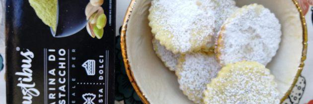 Ciastka z ricottą i mąką pistacjową