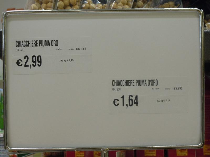 Ceny faworkow w supermarkecie