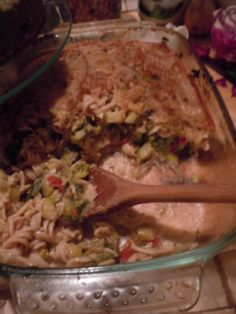 Zapiekany makaron z warzywami