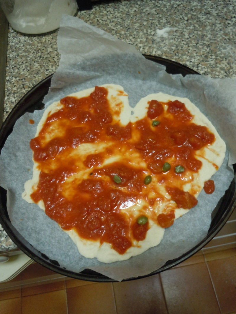 Pizza w ksztalcie serca :)