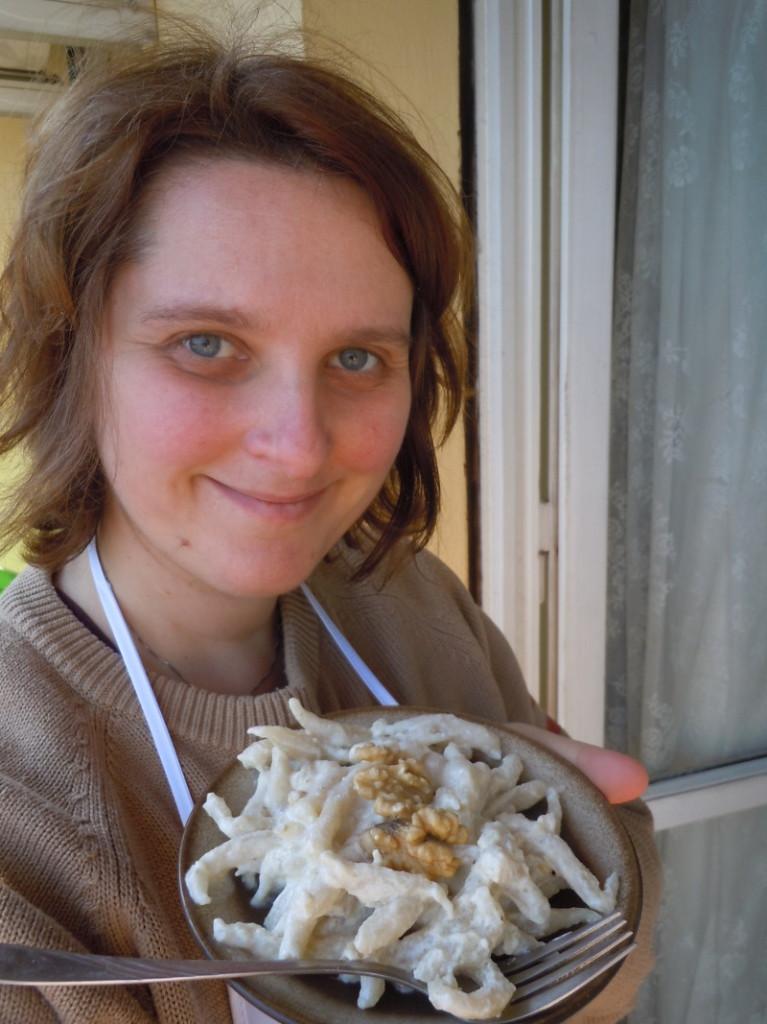 Trofie z sosem orzechowym - przepis wloski