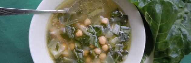 Toskanska zupa z ciecierzycy i bocwiny