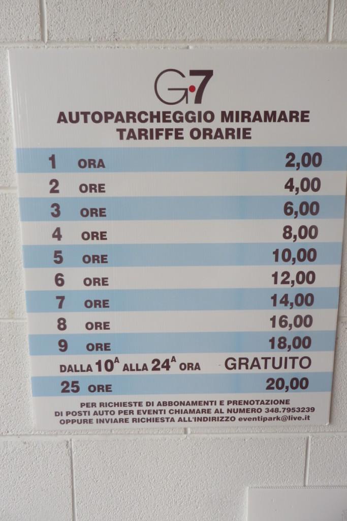 Cennik parkingu podziemnego w Santa Margherita Ligure