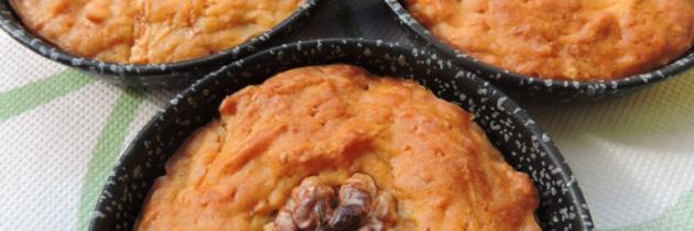 Tortini alla carota, mela e noci