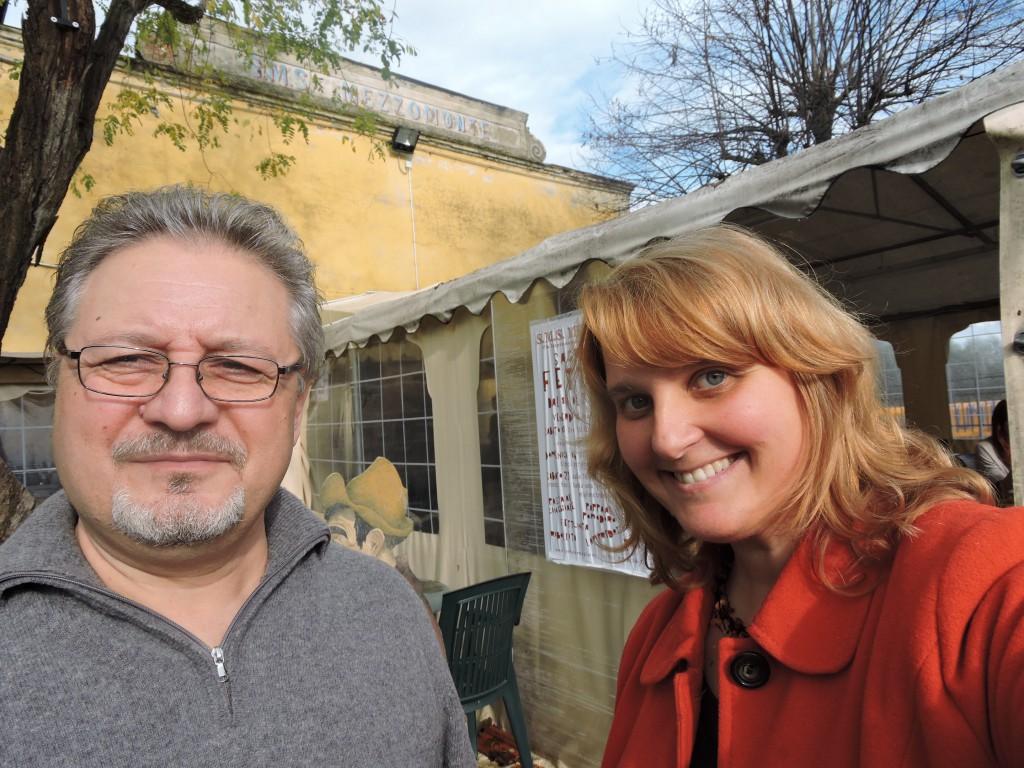 Ja z panem Nicola Terreni, zarzadzajacym festa