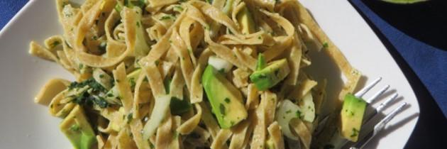 Viva la pasta, cz.43 Tagliatelle zbożowe z awocado