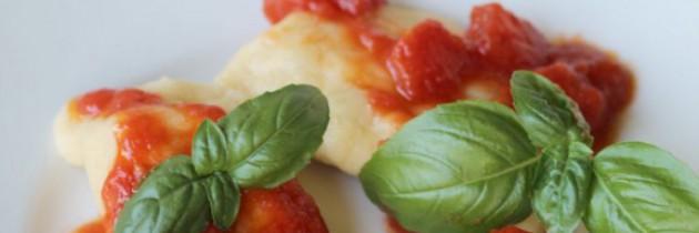 Viva la pasta! cz.60, Gotowane panzerotti z nadzieniem bakłażana