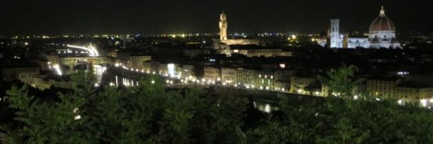 Piazzale Michelangelo wieczorową porą