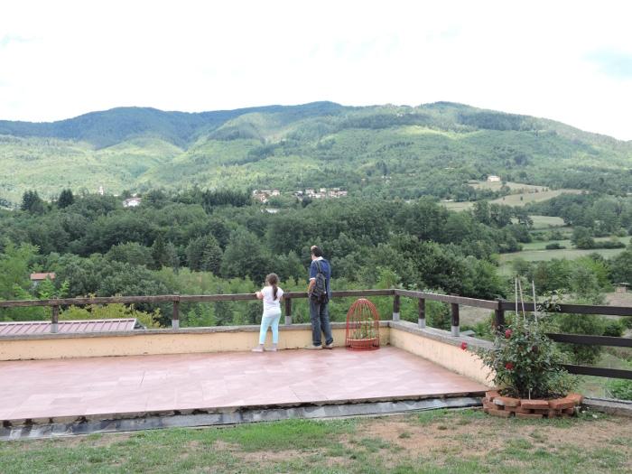 Panorama w Villaggio di Limestre