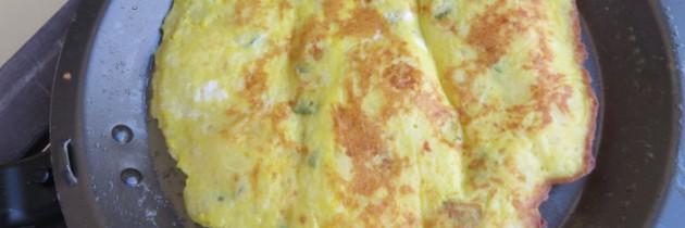 Omlet z ziemniakami i miętą