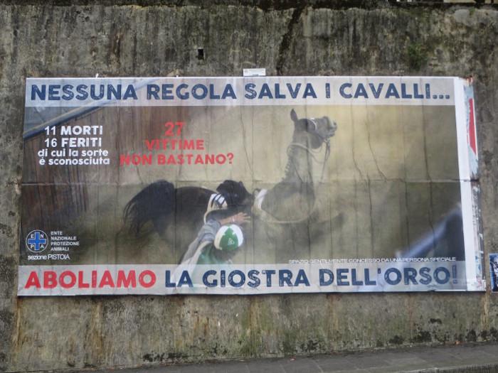 plakat_przeciwko_giostra_dell_orso_moja_Toskania