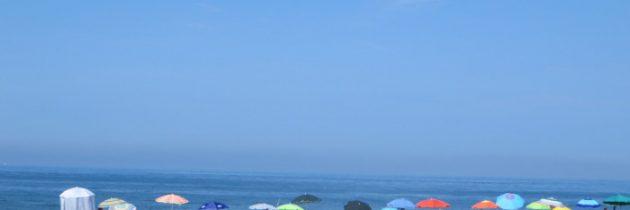 Toskańskie morze w sierpniu