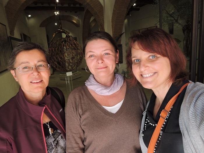 Od lewej: moja znajoma Andrea, Irmina i ja :)