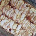 Ciasto wegańskie z jabłkami i dżemem