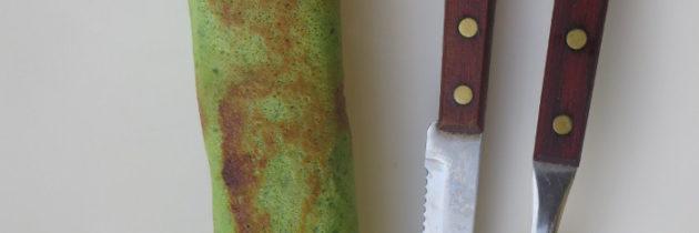 Zielone naleśniki z dwoma farszami