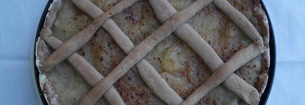 Kruche ciasto kasztanowe z jabłkami, na Dzień Ojca, inaczej
