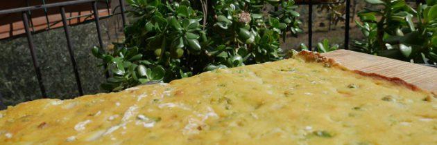 Placek kukurydziany z zielonym groszkiem
